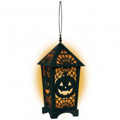 Lanterna Decorativa c/ Luz LED Halloween
