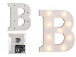 Letra B Luminosa c/ Leds