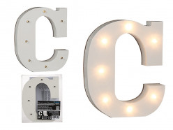 Letra C Luminosa c/ Leds