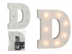 Letra D Luminosa c/ Leds