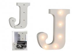 Letra J Luminosa c/ Leds