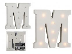 Letra M Luminosa c/ Leds