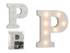 Letra P Luminosa c/ Leds