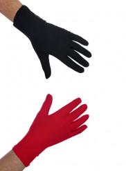 Luvas Pretas e Vermelhas Carnaval