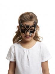 Mascarilha de morcego com lantejoulas