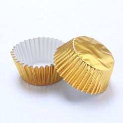 Mini Formas Cupcakes Dourado 60und