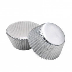 Mini Formas Cupcakes Prateado 60und