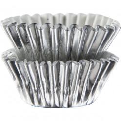 Mini - Forminhas Prateadas Cupcake - 75unid