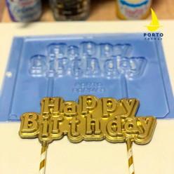 Molde Acetato Happy Birthday