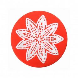 Molde silicone redondo Flor Sweet Lace