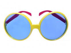 Óculos Disco Amarelo Adulto
