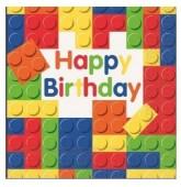 Pack 16 guardanapos Lego Happy Birthday