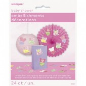 Pack 24 Decorações Baby Shower Menina