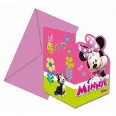 Pack 6 convites com a Minnie Mouse