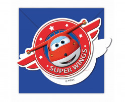 Pack 6 convites Super Wings