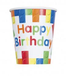 Pack 8 Copos Lego Happy Birthday