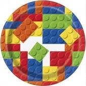 Pack 8 Pratos Lego 17cm