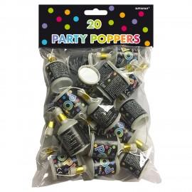 Pack de 20 Mini-lança Confettis