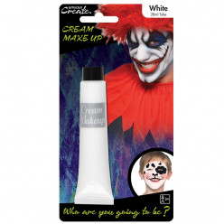 Pintura facial Branca 28ml Halloween