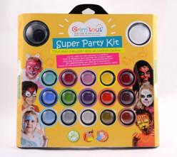 Pinturas Faciais Super Party Kit