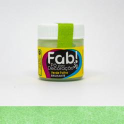 Pó para Decoração FAB Verde Folha 3g