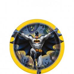 Pratos 17cm Batman 8 unid
