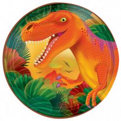 Pratos 18cm Pré-Histórico Dinossauros - 8 und