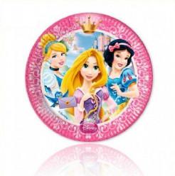 Pratos 20 cm Princesas Disney Glamour 8 Und