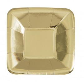 Pratos Aperitivos Dourados 12cm – 8 Und