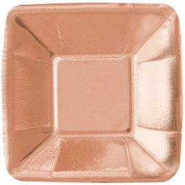 Pratos Aperitivos Rose Gold 12cm – 8 Und