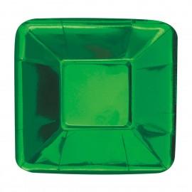 Pratos Aperitivos Verdes 12cm – 8 Und