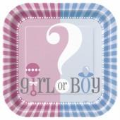Pratos Baby Shower Boy or Girl? 23Cm – 8 Und