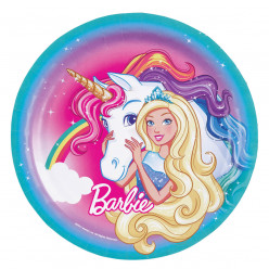 Pratos Barbie Dreamtopia 23cm - 8 Und