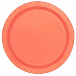 Pratos Coral Redondos 17cm - 20und