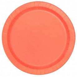 Pratos Coral Redondos 22cm - 16 und