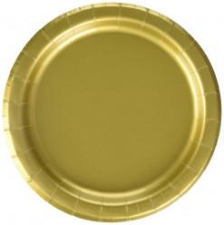Pratos Dourados 17cm - 20 und