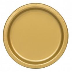 Pratos Dourados 22cm - 16 und