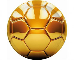 Pratos Futebol Gold 8 unid
