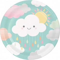Pratos Nuvem 22cm 8und