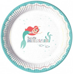 Pratos papel Princesa sereia Ariel Under the Sea 8 unid