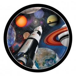 Pratos Space Blast 17 cm - 8 uni