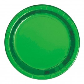 Pratos Verdes Metalizados 18cm – 8 Und
