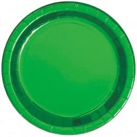 Pratos Verdes Metalizados 23cm – 8 Und