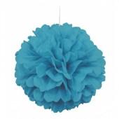 Puff Bola Decorativa 16 Azul Caribe