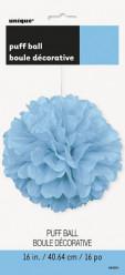 Puff Bola Decorativa 16 polegadas Azul claro