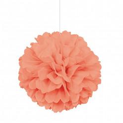 Puff Bola Decorativa 16 polegadas Coral