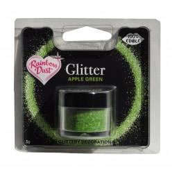 Purpurinas Comestíveis Glitter Apple Green RD