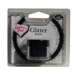 Purpurinas Comestíveis Glitter Black RD