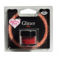 Purpurinas Comestíveis Glitter Red RD