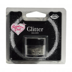 Purpurinas Comestíveis Glitter Silver RD